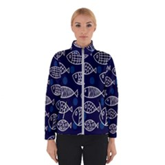 Love Fish Seaworld Swim Blue White Sea Water Cartoons Winterwear