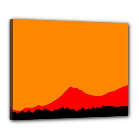 Mountains Natural Orange Red Black Canvas 20  X 16