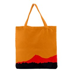Mountains Natural Orange Red Black Grocery Tote Bag