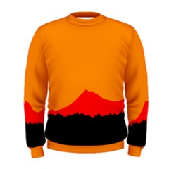 Mountains Natural Orange Red Black Men s Sweatshirt