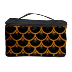 Scales3 Black Marble & Yellow Grunge (r) Cosmetic Storage Case