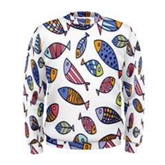 Love Fish Seaworld Swim Rainbow Cartoons Men s Sweatshirt