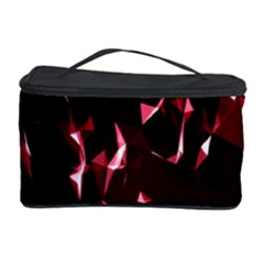 Lying Red Triangle Particles Dark Motion Cosmetic Storage Case