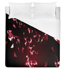 Lying Red Triangle Particles Dark Motion Duvet Cover (queen Size)