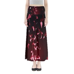 Lying Red Triangle Particles Dark Motion Full Length Maxi Skirt
