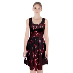 Lying Red Triangle Particles Dark Motion Racerback Midi Dress