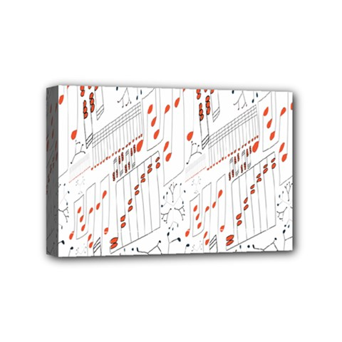 Musical Scales Note Mini Canvas 6  X 4