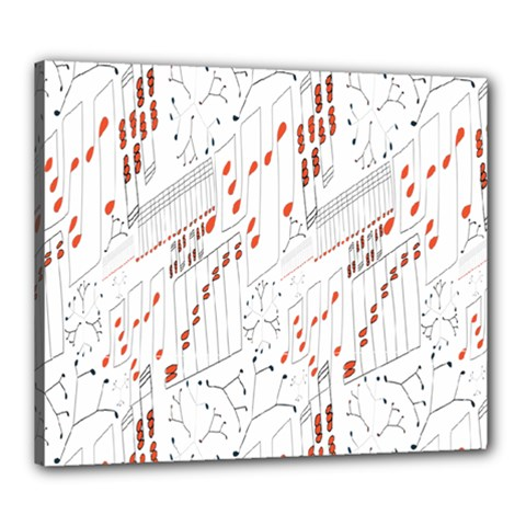 Musical Scales Note Canvas 24  X 20