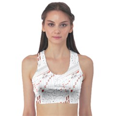 Musical Scales Note Sports Bra