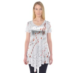Musical Scales Note Short Sleeve Tunic