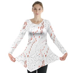 Musical Scales Note Long Sleeve Tunic