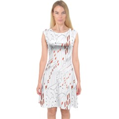 Musical Scales Note Capsleeve Midi Dress