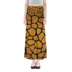 Skin1 Black Marble & Yellow Grunge (r) Full Length Maxi Skirt