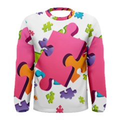 Passel Picture Green Pink Blue Sexy Game Men s Long Sleeve Tee