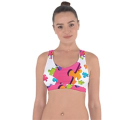 Passel Picture Green Pink Blue Sexy Game Cross String Back Sports Bra