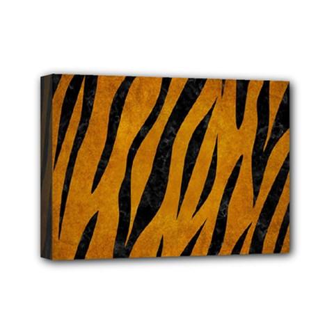 Skin3 Black Marble & Yellow Grunge Mini Canvas 7  X 5