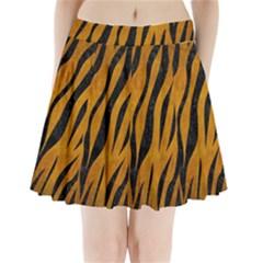 Skin3 Black Marble & Yellow Grunge Pleated Mini Skirt