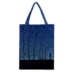Forest Tree Night Blue Black Man Classic Tote Bag