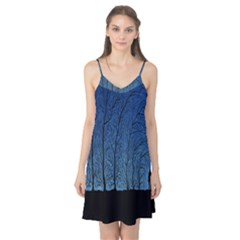Forest Tree Night Blue Black Man Camis Nightgown
