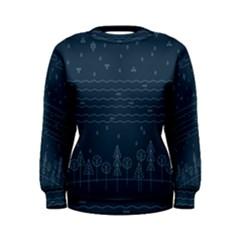 Rain Hill Tree Waves Sky Water Women s Sweatshirt