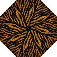 Skin3 Black Marble & Yellow Grunge (r) Golf Umbrellas