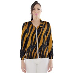 Skin3 Black Marble & Yellow Grunge (r) Wind Breaker (women)