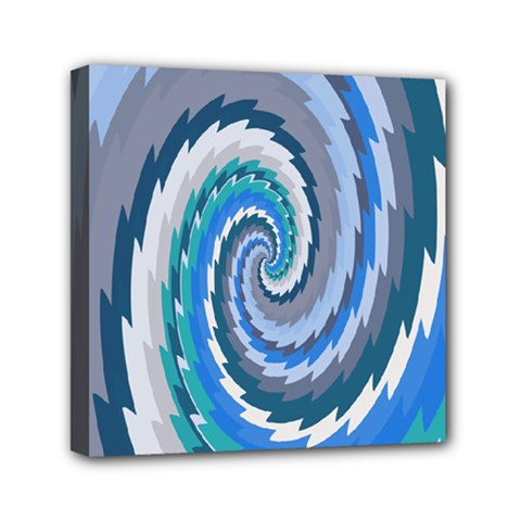 Psycho Hole Chevron Wave Seamless Mini Canvas 6  X 6