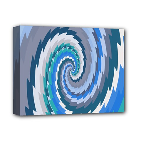 Psycho Hole Chevron Wave Seamless Deluxe Canvas 14  X 11