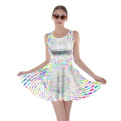 Prismatic Abstract Rainbow Skater Dress