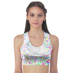 Prismatic Abstract Rainbow Sports Bra