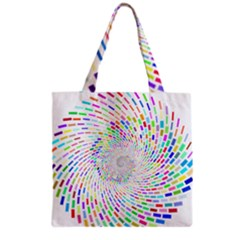Prismatic Abstract Rainbow Grocery Tote Bag
