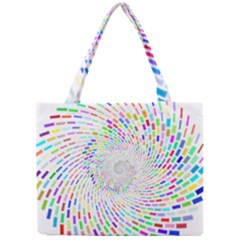 Prismatic Abstract Rainbow Mini Tote Bag