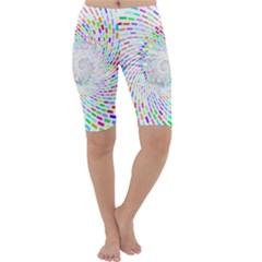 Prismatic Abstract Rainbow Cropped Leggings