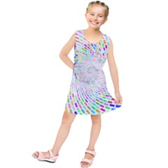 Prismatic Abstract Rainbow Kids  Tunic Dress
