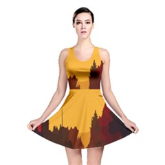 Road Trees Stop Light Richmond Ace Reversible Skater Dress