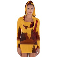 Road Trees Stop Light Richmond Ace Long Sleeve Hooded T Shirt