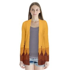 Road Trees Stop Light Richmond Ace Drape Collar Cardigan