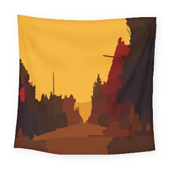 Road Trees Stop Light Richmond Ace Square Tapestry (large)