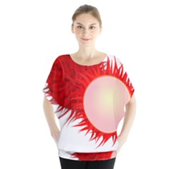 Rambutan Fruit Red Sweet Blouse