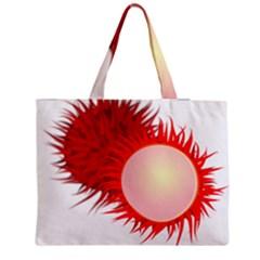 Rambutan Fruit Red Sweet Medium Tote Bag