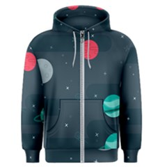 Space Pelanet Galaxy Comet Star Sky Blue Men s Zipper Hoodie