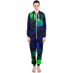 Spectrum Sputnik Space Blue Green Hooded Jumpsuit (ladies)