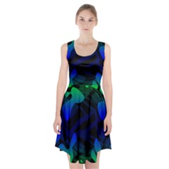 Spectrum Sputnik Space Blue Green Racerback Midi Dress
