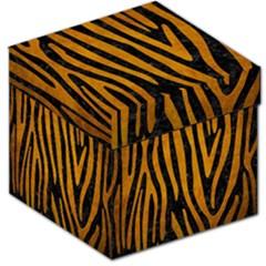 Skin4 Black Marble & Yellow Grunge Storage Stool 12