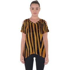 Skin4 Black Marble & Yellow Grunge (r) Cut Out Side Drop Tee