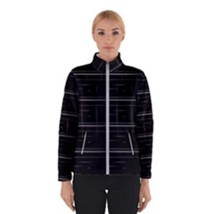 Stripes Black White Minimalist Line Winterwear