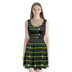Stock Illustration Rendering Seven Volume Split Back Mini Dress