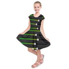 Stock Illustration Rendering Seven Volume Kids  Short Sleeve Dress