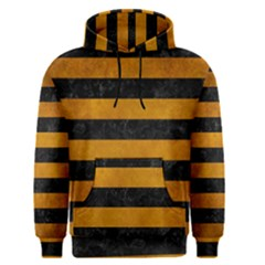 Stripes2 Black Marble & Yellow Grunge Men s Pullover Hoodie