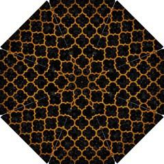 Tile1 Black Marble & Yellow Grunge (r) Hook Handle Umbrellas (small)
